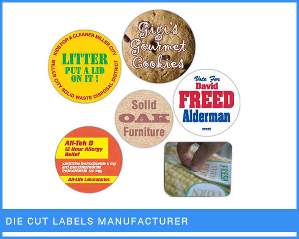 Die Cut Labels Manufacturer