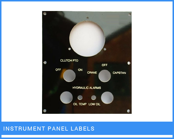 Instrument Panel Labels
