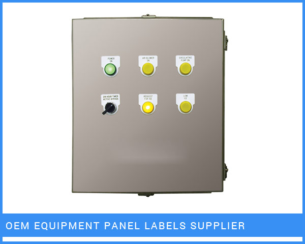 OEM Equipment Panel Labels Supplier