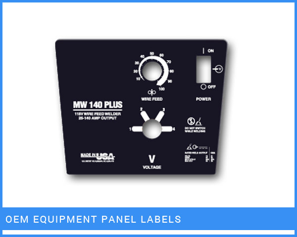 OEM Equipment Panel Labels