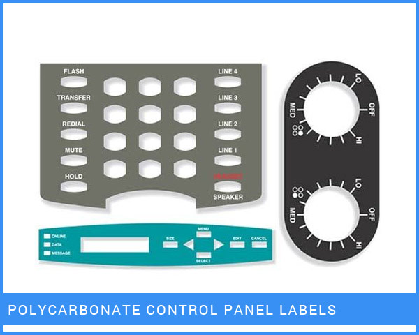 Polycarbonate Control Panel Labels