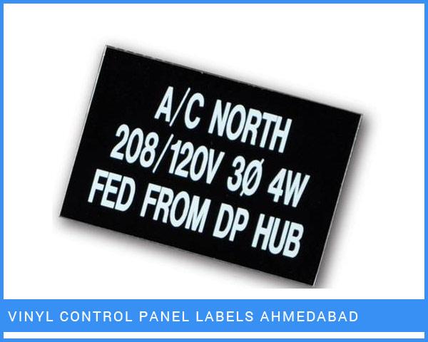 VINYL Control Panel Labels Ahmedabad