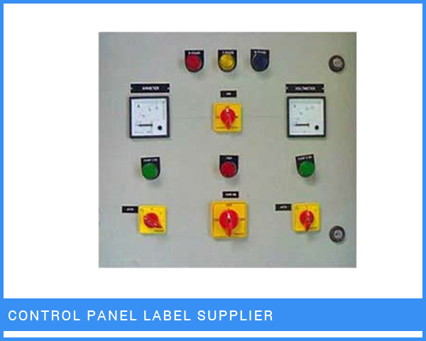 Control Panel Labels Manufacturer
